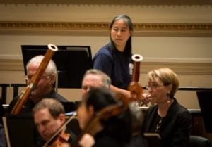 Intense concentration marks an opening-night rehearsal at Carnegie Hall.