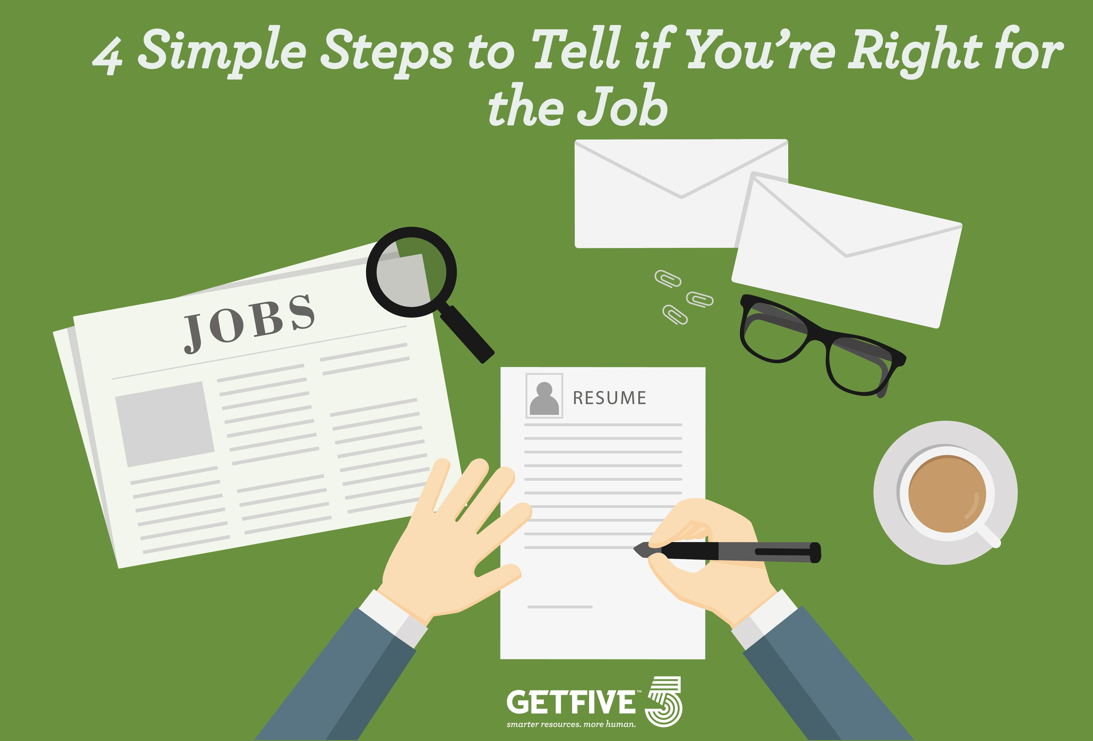 4 Simple Steps to Tell if You're Right for the Job