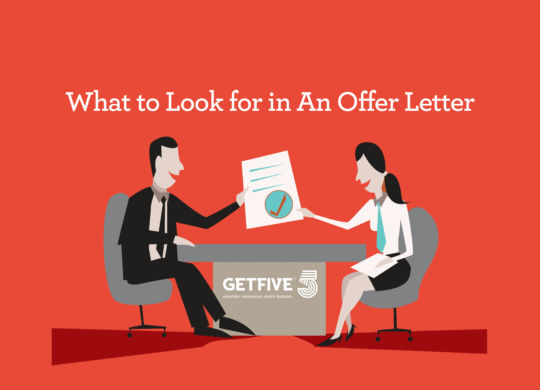 Vector illustration showing a job interview candidate being hired. Good for use in presentations and multimedia on HR, management, referral etc.