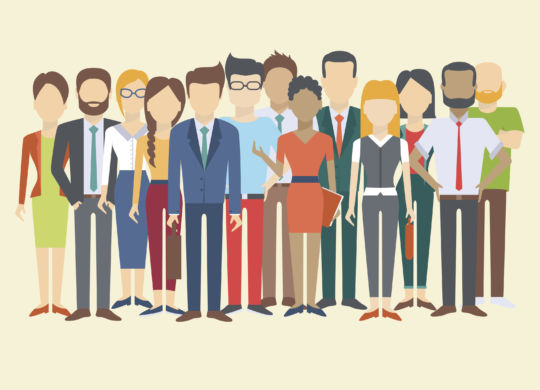Set of business people, collection of diverse characters in flat cartoon style, vector illustration