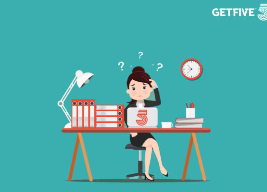 Busy of time business woman in hard working. A lot of work - Vector illustration.