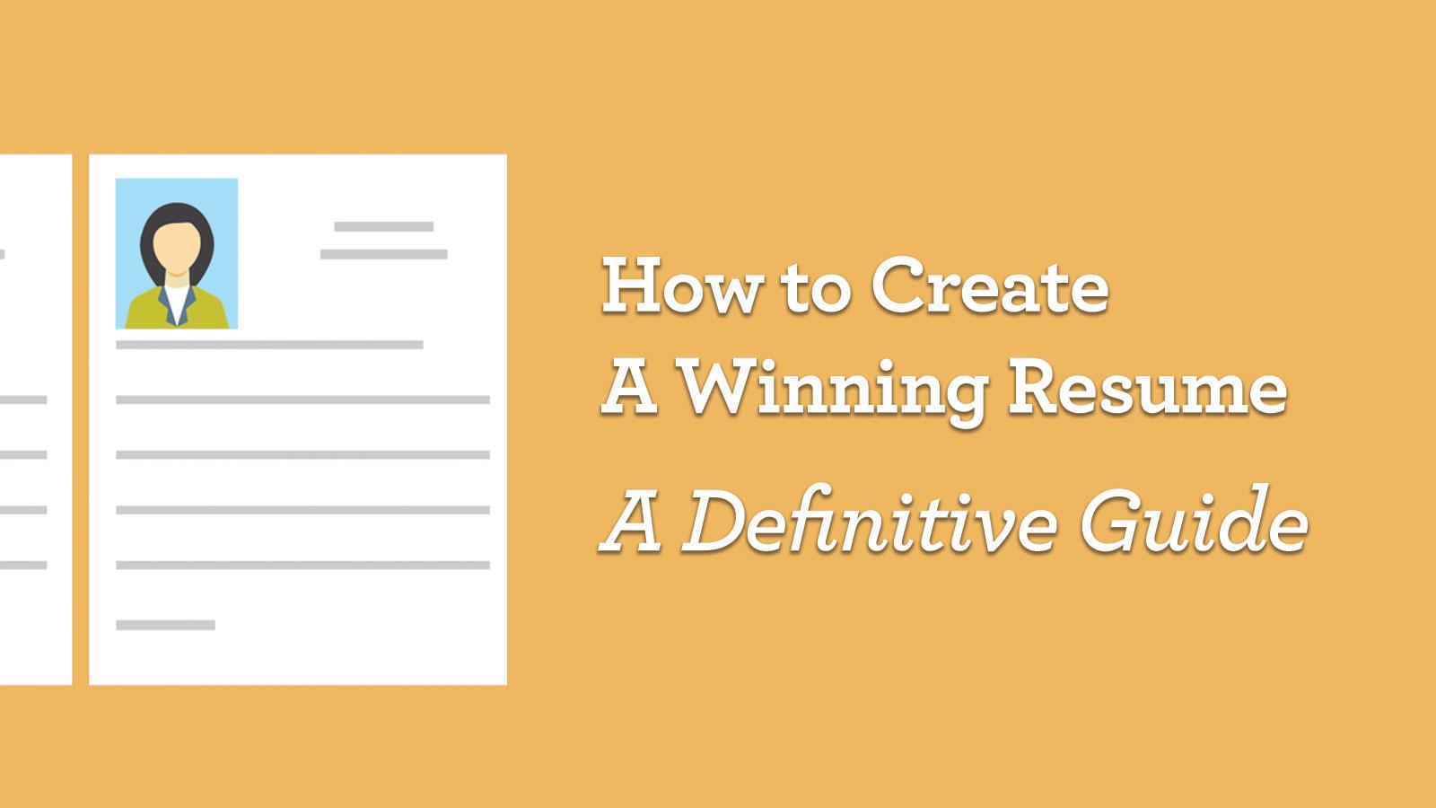 How To Create A Winning Resume Getfive